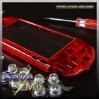 PSP3 - Faceplate (TRANSPARANT ROOD)